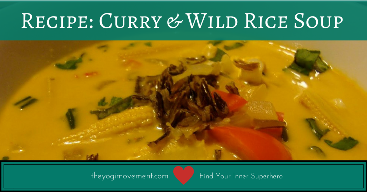 theyogimovement.com Curry and Wild Rice Veggie Soup Recipe by Monica Dawn Stone