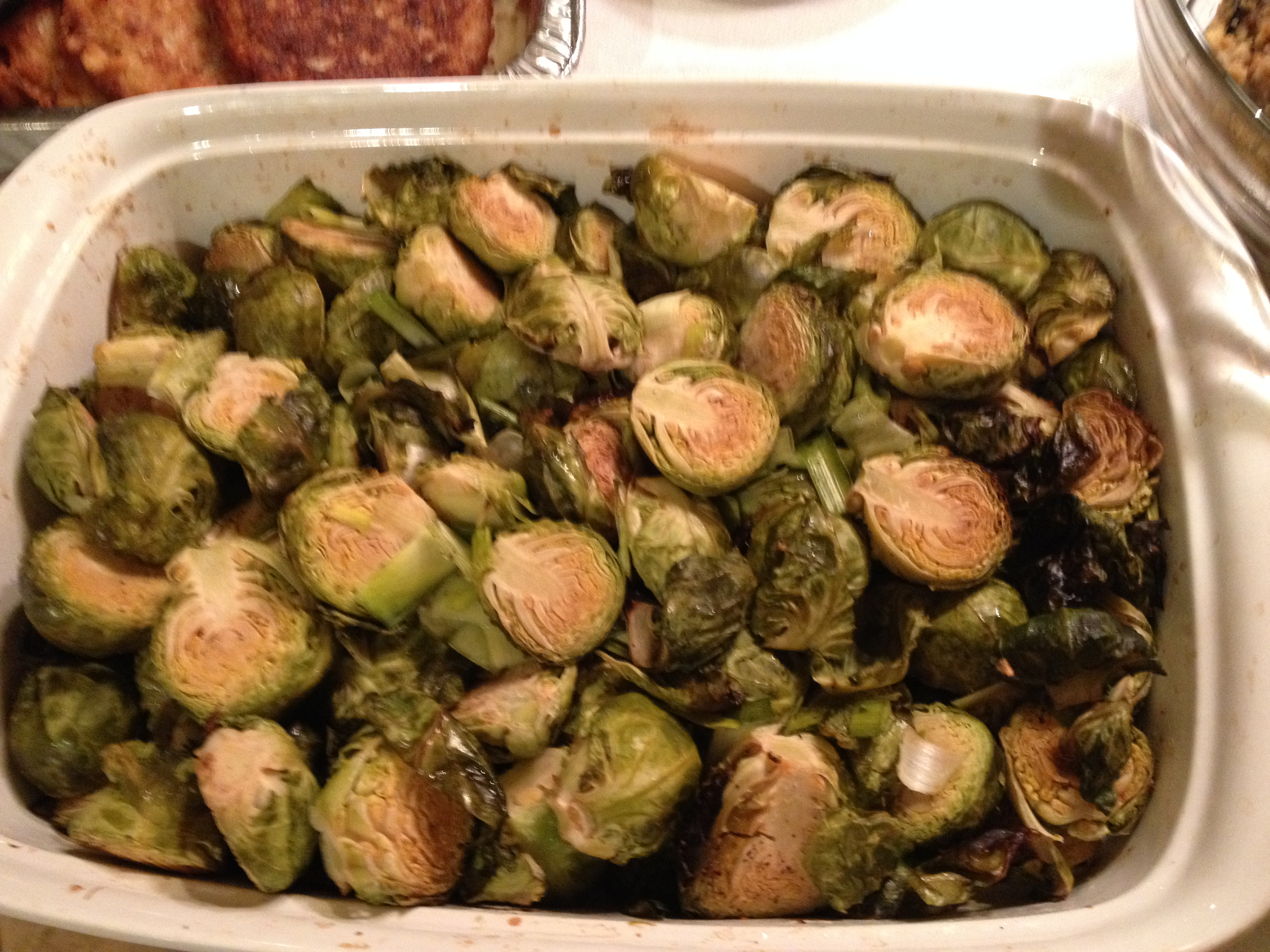 Roasted Brussel Sprouts & Leeks – Thanksgiving & Channukkah 2013