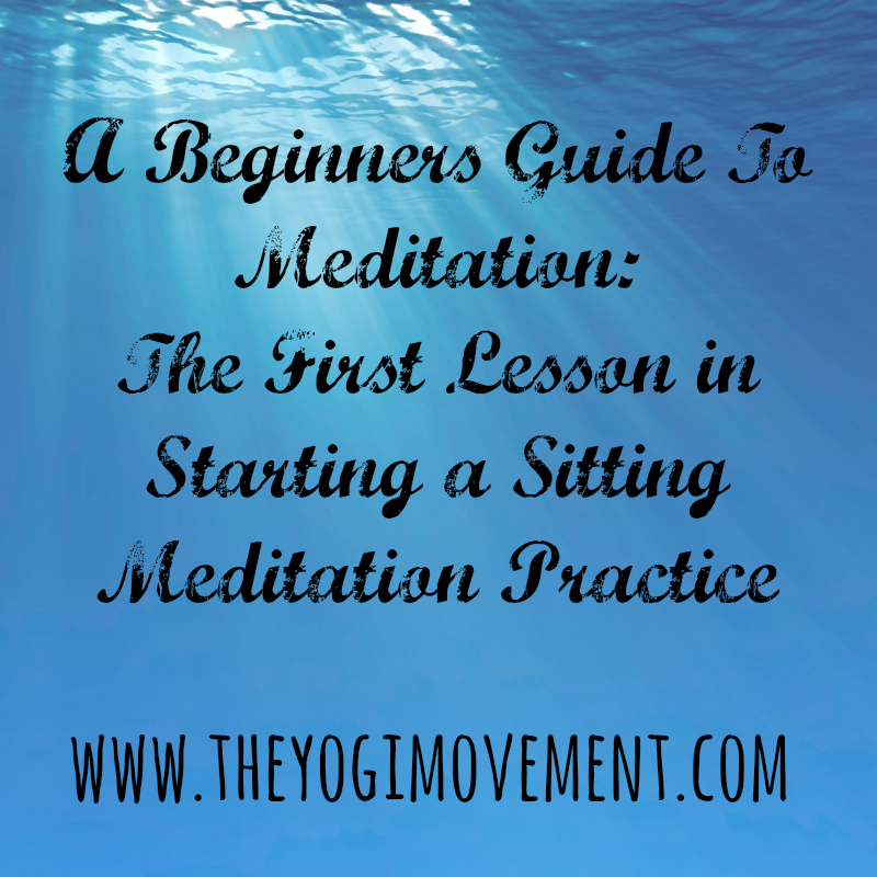 Starting a meditation Practice