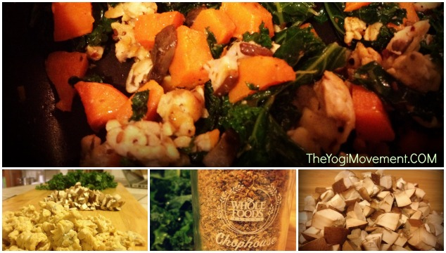 Smokey Kale & Tempeh With Sweet Potatoes