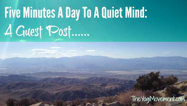 Five Minutes A Day To A Quiet Mind: My First Guest Post!
