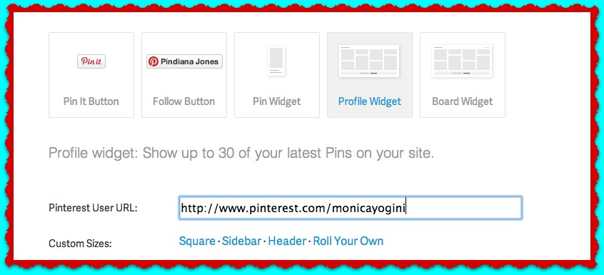 pinterest frame.jpg Creating A Pinterest Widget For Your Blog