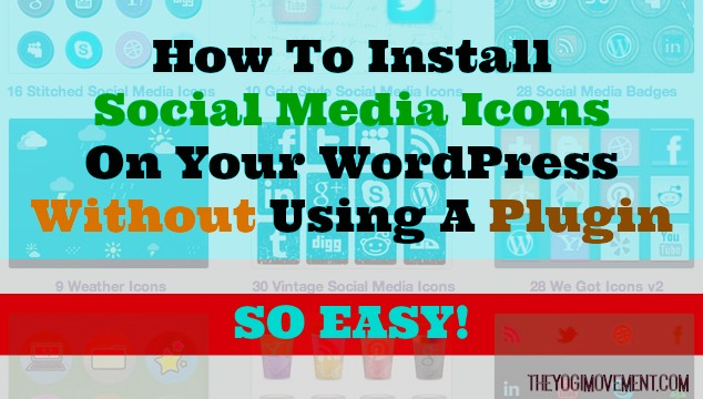 Install your social media icons without a plugin