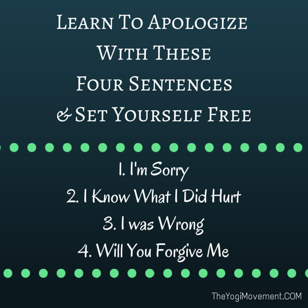 Learn To Apologize