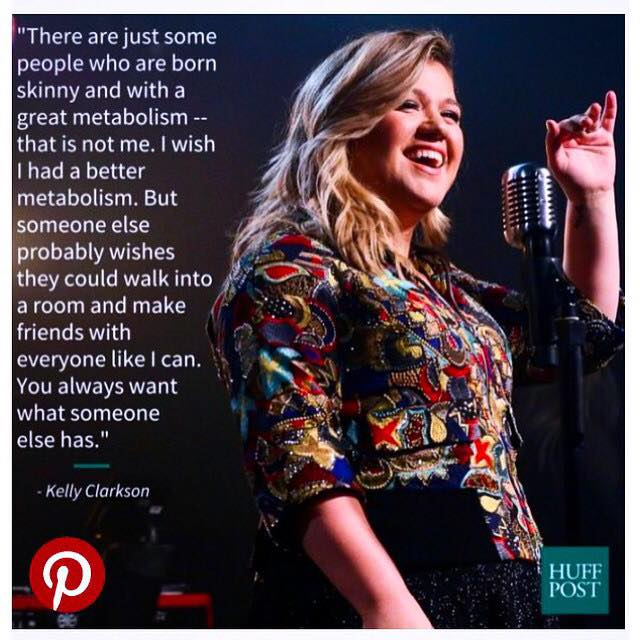 kelly clarkson comparing yourself theyogimovement.com by monica stone