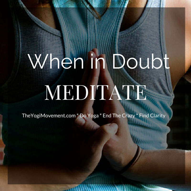 When you're down, feeling rock bottom, lost or confused - always meditate. It will heal you. Promise. Here's how you do it...