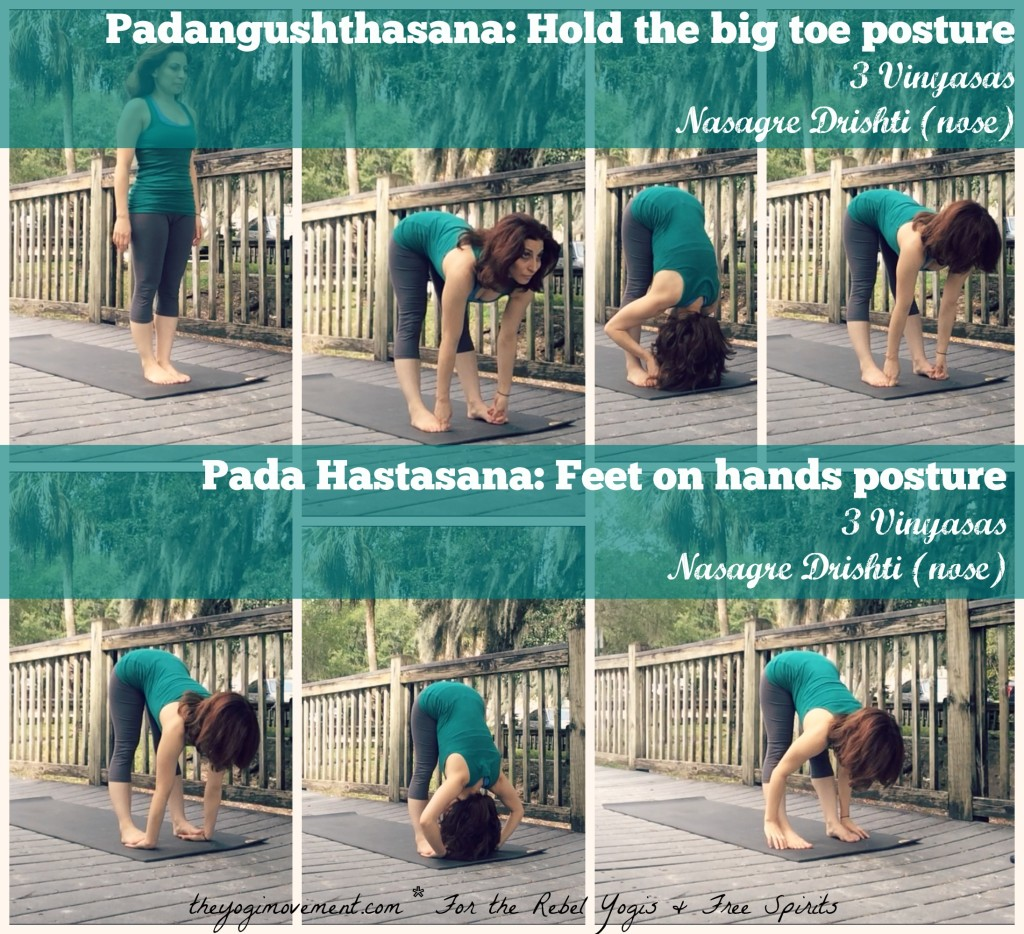 Today's Asana Lab is Standing forward fold. In sanskrit it's Padunghustasana and Pada Hastasana. In this post I talk about the benefits, and how to teaches surrender. I discuss all modifications and how to slowly get to straight legs if you have tight hamstrings! Try it and let me know how it worked for you! xo, Monica (http://www.theyogimovement.com)