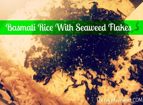 Basmati Rice With Seaweed Crumbles